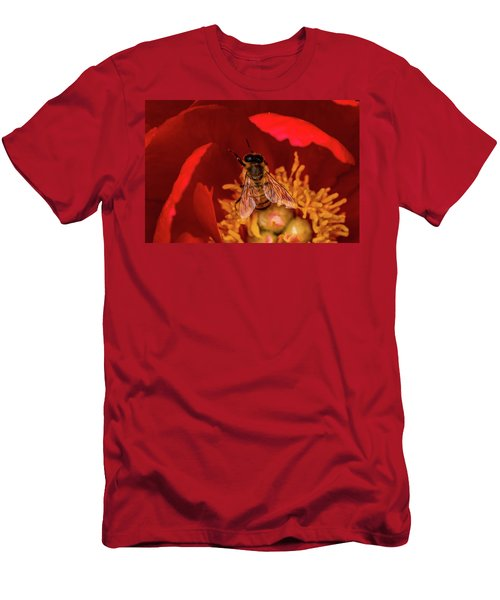 Men's T-Shirt (Slim Fit) featuring the photograph Bee by Jay Stockhaus