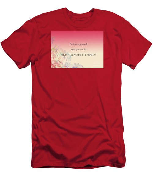 Men's T-Shirt (Slim Fit) featuring the digital art Believe by Trilby Cole