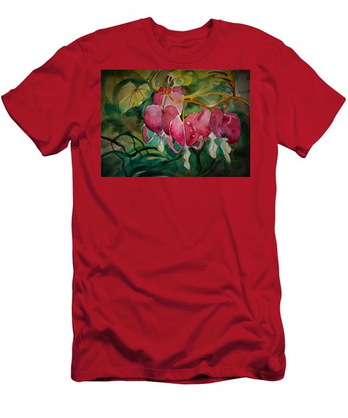 Bleeding Hearts Men's T-Shirt (Athletic Fit)