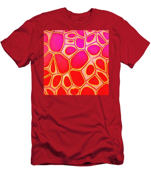 Cells Abstract Three Men's T-Shirt (Slim Fit) by Edward Fielding