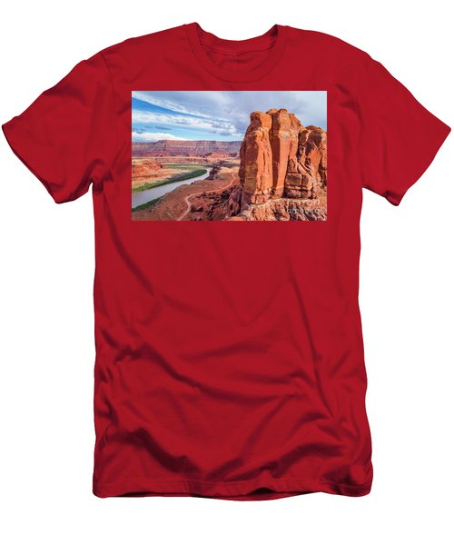 Colorado River And Chicken Corner Trail  Men's T-Shirt (Athletic Fit)