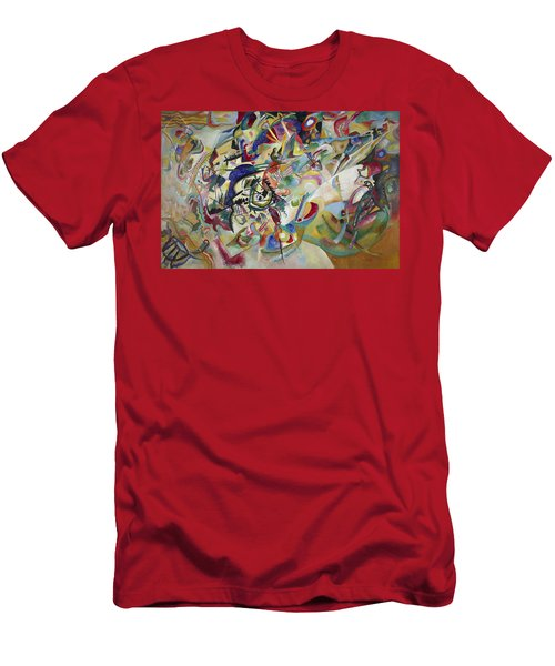 Composition Vii Men's T-Shirt (Slim Fit) by Wassily Kandinsky