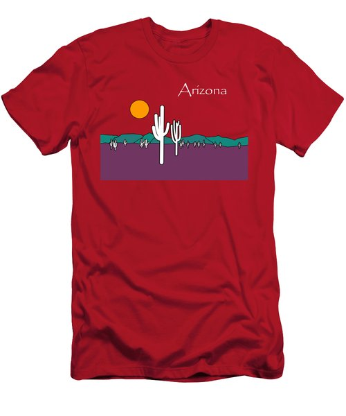 Desert Sunset Men's T-Shirt (Slim Fit) by Methune Hively
