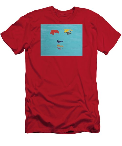 Elvis In The Sky Men's T-Shirt (Slim Fit) by Stormm Bradshaw