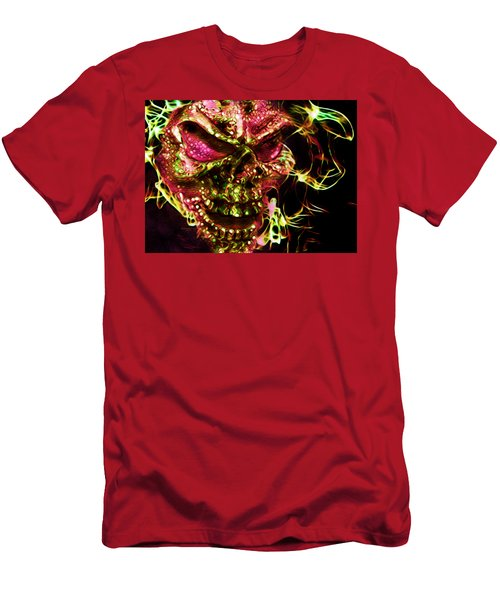 Flaming Skull Men's T-Shirt (Athletic Fit)