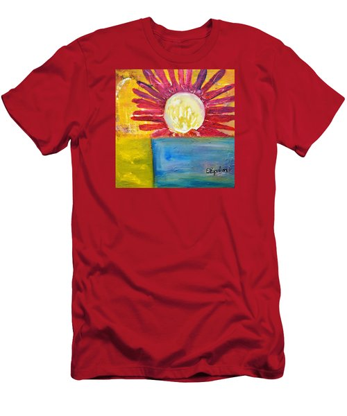 Men's T-Shirt (Slim Fit) featuring the painting Floral by Evelina Popilian