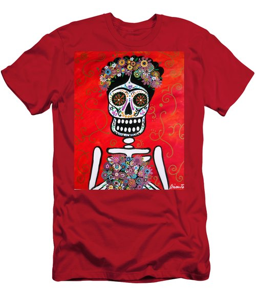 Frida Dia De Los Muertos Men's T-Shirt (Athletic Fit)