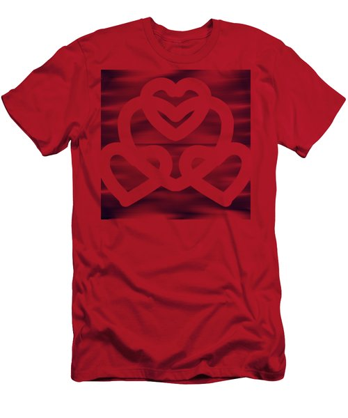 Hearts Men's T-Shirt (Athletic Fit)