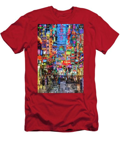 Hong Kong City Nightlife Men's T-Shirt (Athletic Fit)