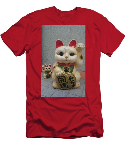 A Figure Of A Beckoning Cat, Called 'manekineko' Men's T-Shirt (Athletic Fit)