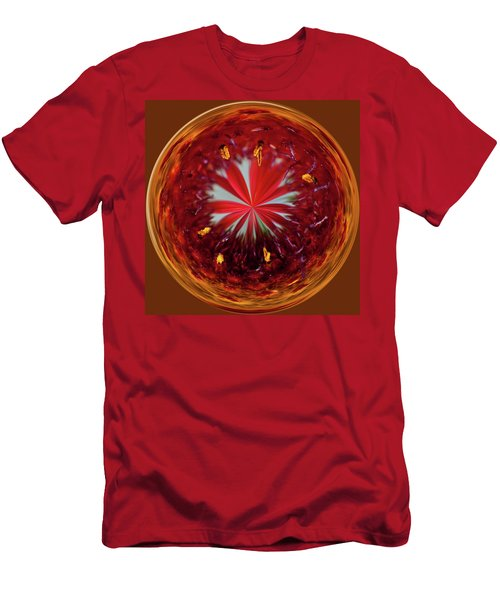 Men's T-Shirt (Athletic Fit) featuring the photograph Orb Image Of A Gaillardia by Brenda Jacobs