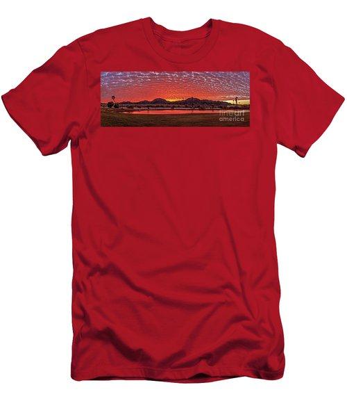 Panoramic Sunrise Men's T-Shirt (Slim Fit) by Robert Bales