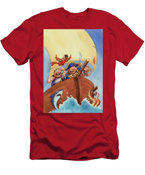 Pirate Ship Men's T-Shirt (Athletic Fit)
