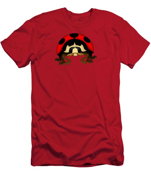Red Bug Men's T-Shirt (Slim Fit) by Sarah Greenwell