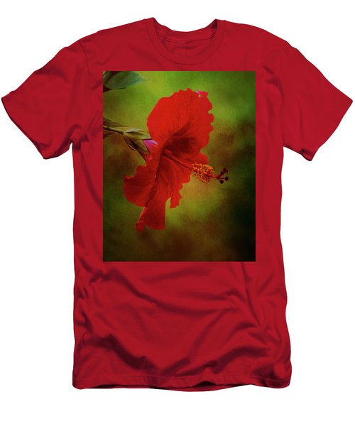 Red Hibiscus Art Men's T-Shirt (Athletic Fit)