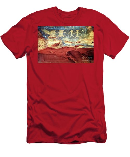 Red Rock Canyon Petroglyphs Men's T-Shirt (Slim Fit) by Jim And Emily Bush