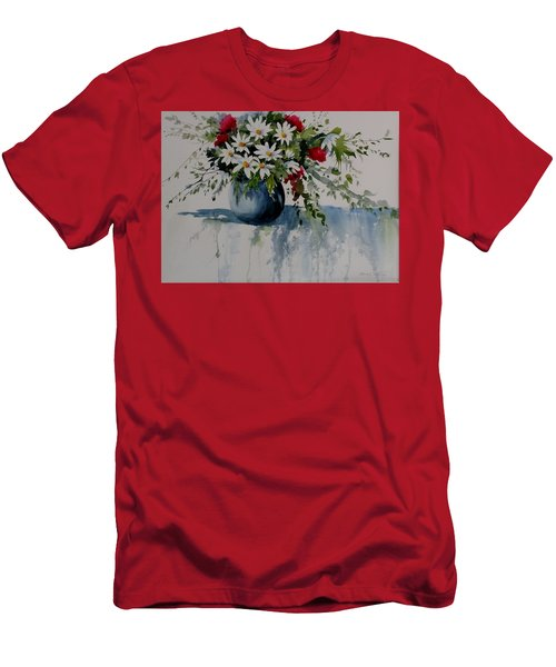 Red White And Blue Bouquet Men's T-Shirt (Athletic Fit)