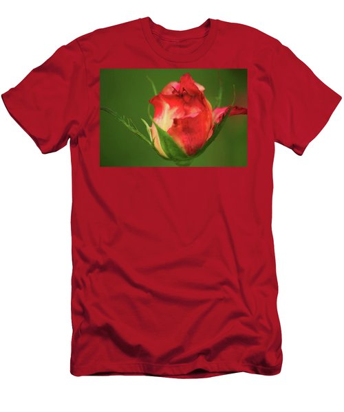 Men's T-Shirt (Slim Fit) featuring the photograph Rosebud by Donna G Smith