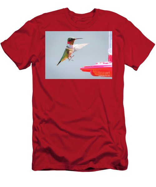 Men's T-Shirt (Athletic Fit) featuring the photograph Ruby-throated Hummingbird  by Ricky L Jones