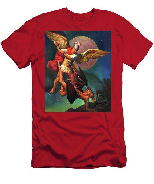 Saint Michael The Warrior Archangel Men's T-Shirt (Athletic Fit)