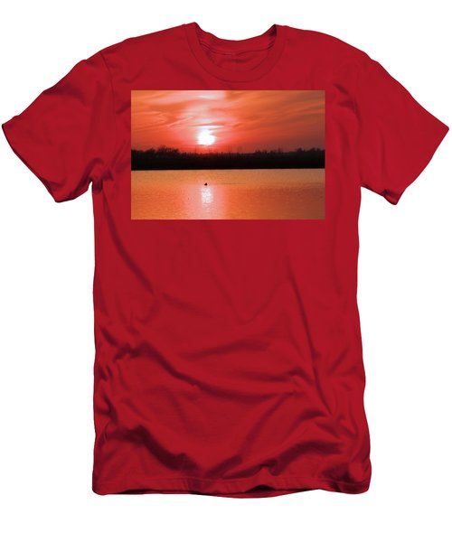 Silky Sunset Men's T-Shirt (Athletic Fit)