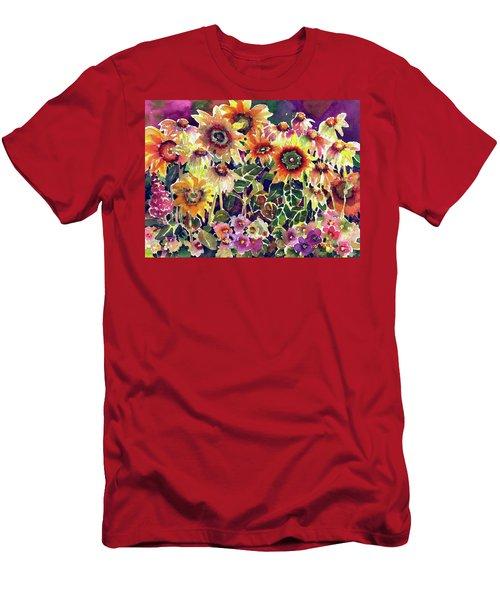 Sunflower Garden Men's T-Shirt (Athletic Fit)
