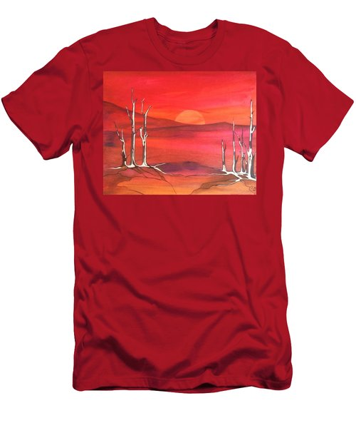 Men's T-Shirt (Slim Fit) featuring the painting Sunrise by Pat Purdy