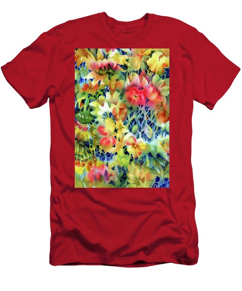 Tangled Blooms Men's T-Shirt (Athletic Fit)