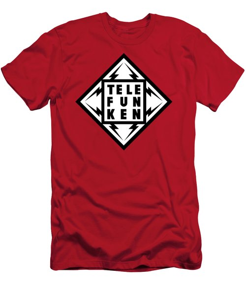 Telefunken Fantastic German Media Company Logo Men's T-Shirt (Athletic Fit)