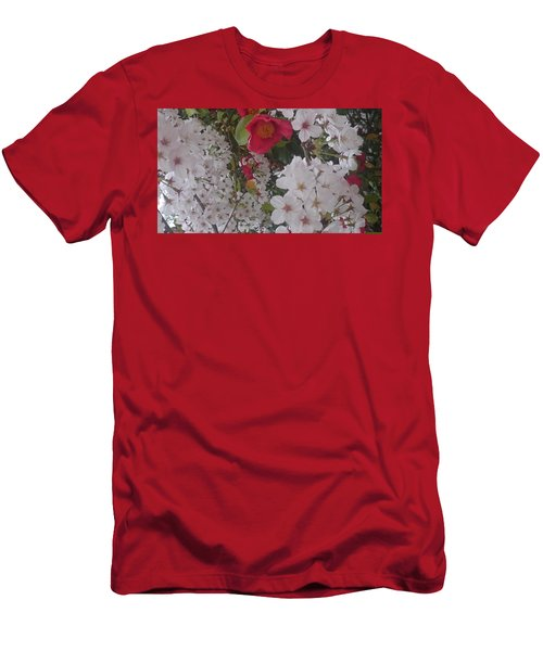 Thubaki Means Camellia Men's T-Shirt (Athletic Fit)