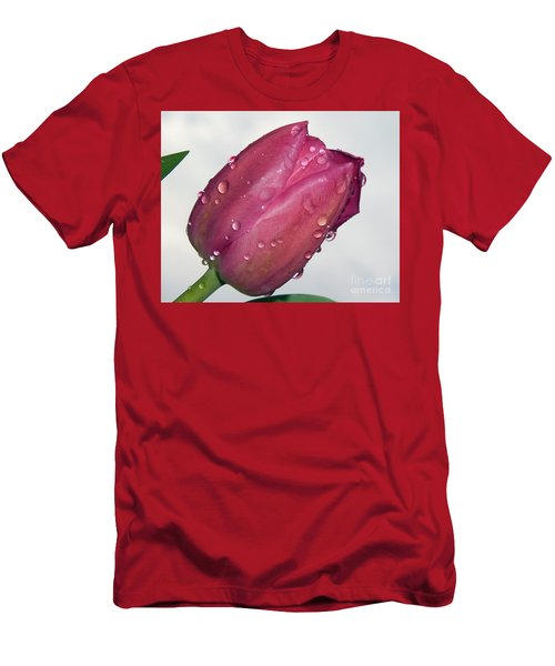 Men's T-Shirt (Slim Fit) featuring the photograph Tulip by Elvira Ladocki