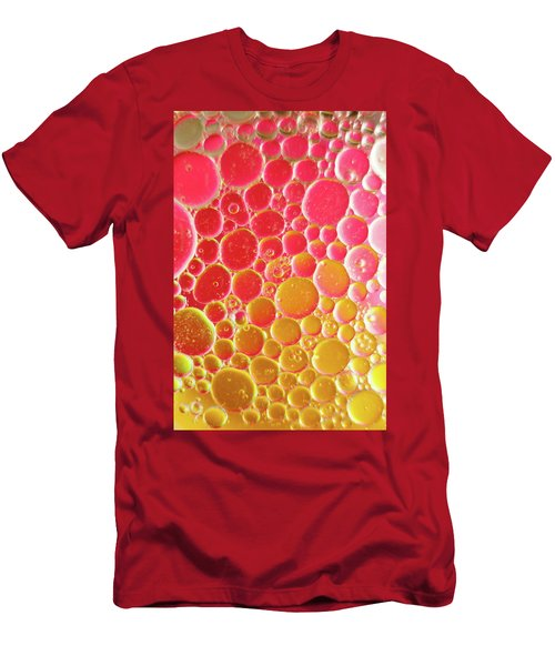 Water And Oil Bubbles Men's T-Shirt (Athletic Fit)