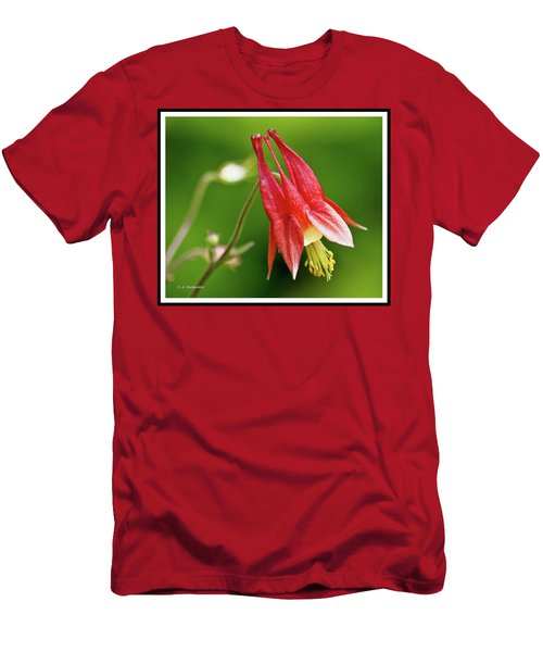 Wild Columbine Flower Men's T-Shirt (Slim Fit) by A Gurmankin