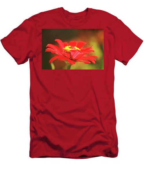 Men's T-Shirt (Slim Fit) featuring the photograph Zinnia by Donna G Smith