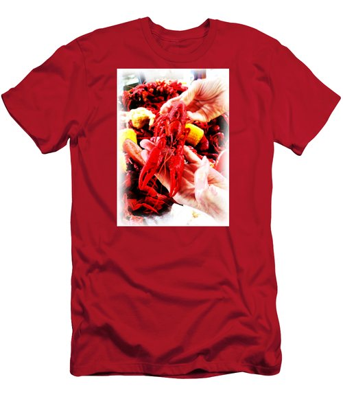 102715 Louisiana Lobster Men's T-Shirt (Athletic Fit)