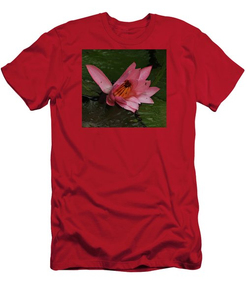 Water Lilly Men's T-Shirt (Slim Fit) by Ronald Olivier