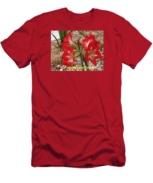 Christmas Card Men's T-Shirt (Slim Fit) by Rod Ismay