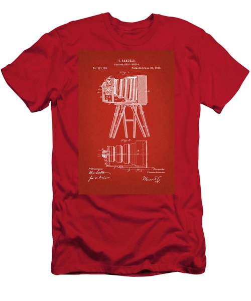 1885 Camera Us Patent Invention Drawing - Red Men's T-Shirt (Athletic Fit)