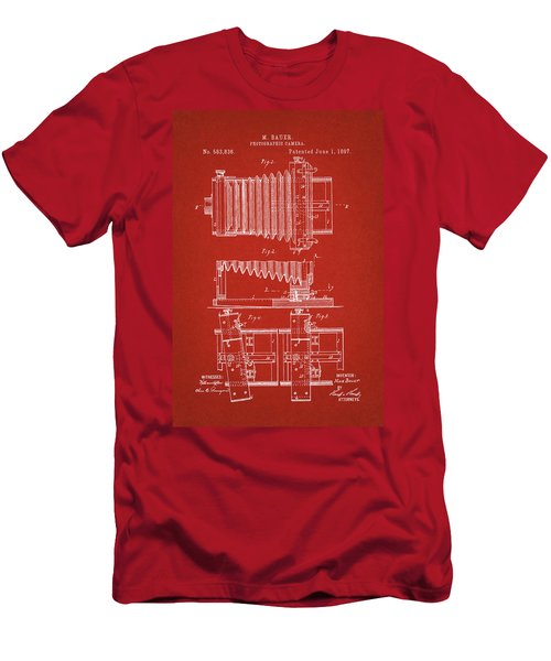 1897 Camera Us Patent Invention Drawing - Red Men's T-Shirt (Athletic Fit)