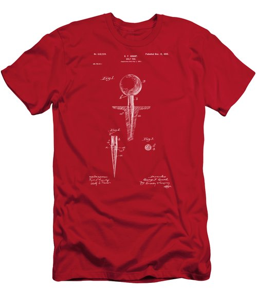 1899 Golf Tee Patent Artwork Red Men's T-Shirt (Athletic Fit)