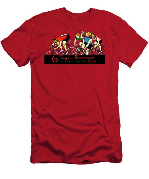 1914 Bicycle Race Poster Men's T-Shirt (Athletic Fit)