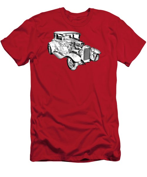 1930 Model A Custom Hot Rod Illustration Men's T-Shirt (Athletic Fit)