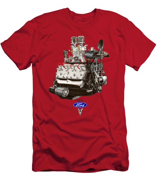 1934 Ford Flathead V 8 Tee Shirt Men's T-Shirt (Athletic Fit)