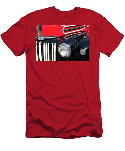 Men's T-Shirt (Slim Fit) featuring the photograph 1947 Vintage Ford Pickup Truck by Theresa Tahara