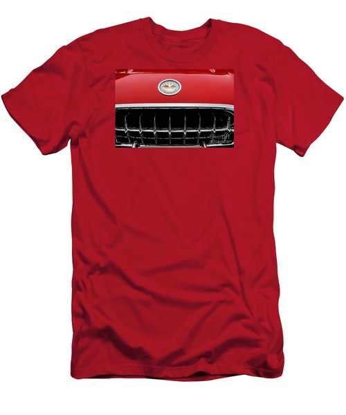 Men's T-Shirt (Slim Fit) featuring the photograph 1959 Corvette by M G Whittingham