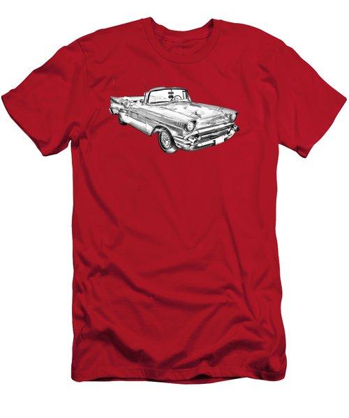 1957 Chevrolet Bel Air Convertible Illustration Men's T-Shirt (Slim Fit) by Keith Webber Jr