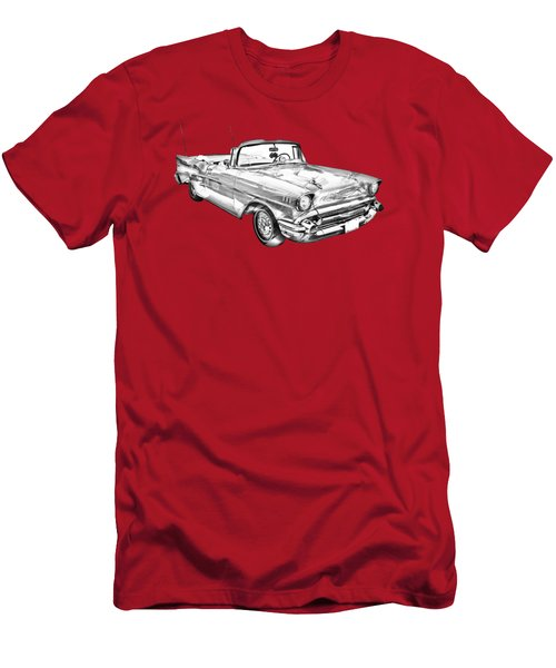 1957 Chevrolet Bel Air Convertible Illustration Men's T-Shirt (Athletic Fit)