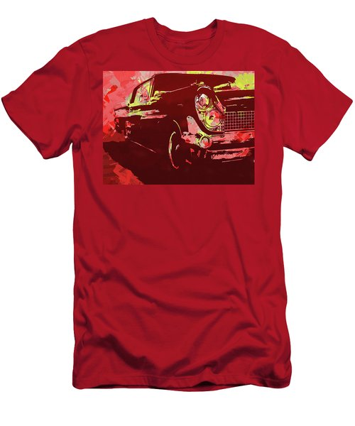 1959 Lincoln Continental Red Pop Men's T-Shirt (Athletic Fit)