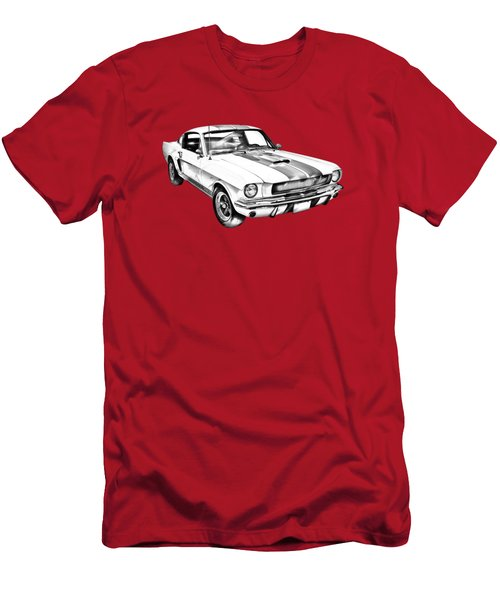 1965 Gt350 Mustang Muscle Car Illustration Men's T-Shirt (Athletic Fit)