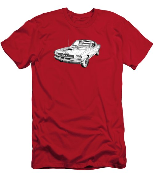 1966 Ford Mustang Fastback Illustration Men's T-Shirt (Athletic Fit)